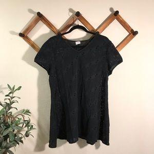 Cherokee | black crochet swim coverup sz xl
